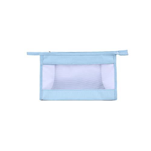CanVivi Sac à cosmétiques Grande capacité Sac de Toile Multifonctionnel Sac à Main pour Femme Sac de Rangement, Bleu