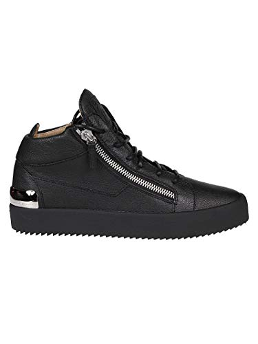 Giuseppe Zanotti Luxury Fashion Design Herren RU90054001 Schwarz Leder Sneakers | Herbst Winter 19