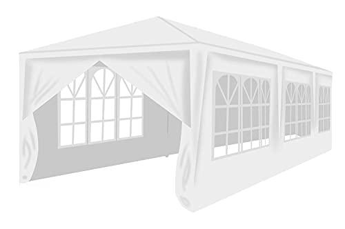MT MALATEC Pavillon 3x9m Festzelt Gartenpavillon Partyzelt 8 Seitenteile 12872, Farbe:Weiß/White