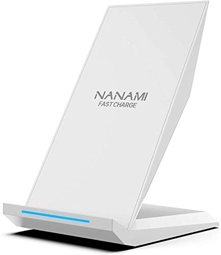 NANAMI Cargador Inalámbrico Rápido,Qi Inalámbrica Carga Rápida 10W y Estándar 7.5W para iPhone 12/11/11 Pro/XS/XS MAX/XR/X/8 Plus/8,Wireless Quick Charger para Samsung Galaxy S20 S10 S9 S8 S8 Plus etc