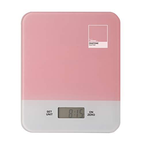 Bimar PMS400 Bilancia Cucina Digitale Pantone, Smart, Alimentare, di Precisione, Elettronica, Vetro Temperato, Compatta, Display LCD, Pesa, Alimenti, Cibo, Timer, Multifunzione, Retro Illuminazione