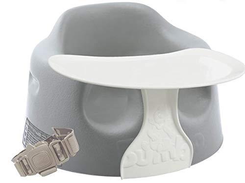 バンボ Bumbo ベビーソファ + プレートレイ セット クールグレー 専用腰ベルト付き 正規輸入品