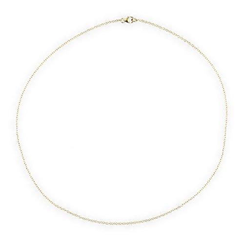 Aleksander Sternen Damen Halskette Ankerkette Sterling-Silber 925 vergoldet 50cm