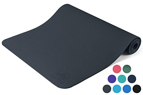 Clever Yoga Mat Exercise Mats and Workout Mats For Home Gym Studio Foam Mat Non Slip (Gray)