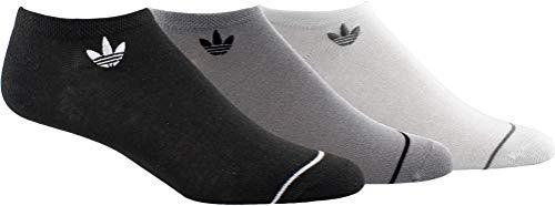 adidas Originals Calcetines Superlite No Show para mujer (3 pares), Negro/Onix/Blanco, Mediano (talla de zapato 5-10)