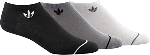 adidas Originals Calcetines Superlite para mujer (3 pares), Mujer, Calcetines originales para mujer (3 unidades), EW2646, Negro/Onix claro/Blanco, M