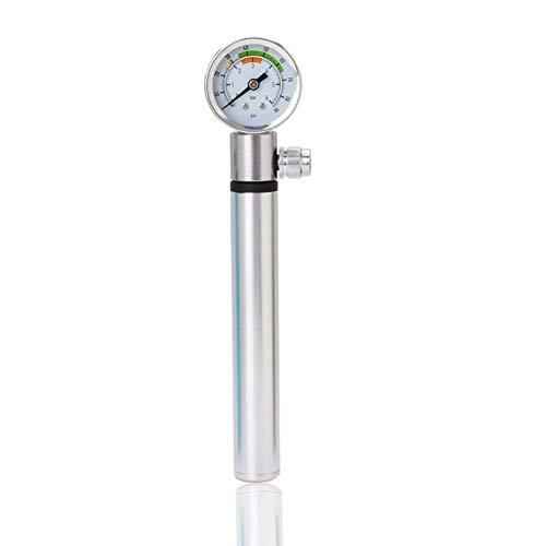 Fahrradpumpe Mini Fahrradpumpe mit Manometer 210 PSI bewegliche Hand Radfahren Pump Presta und Schrader Ball Road MTB Reifen Fahrrad-Pumpe Katheter Schmierung ( Color : S )