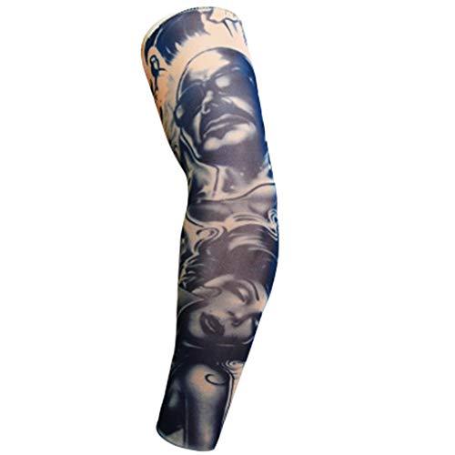 Kanpola Tatoo Arm äRmel Herren Armlinge Atmungsaktiv Armstulpen Uv-Schutz Kompressionss ArmwäRmer Sonnenschutz FüR Wandern/Volleyball/Sport/Radsport/Tennis