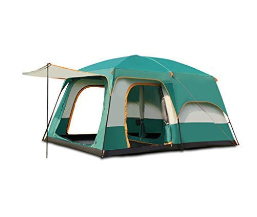 XIUYU Camping Tent, Outdoor Camping Tent, 3-5/5-8/8-12 People, Double-layer Structure, Automatic Quick Opening No Need to Build, Rainproof Sunscreen Waterproof, Picnics Beach Park Lawn Fields-3