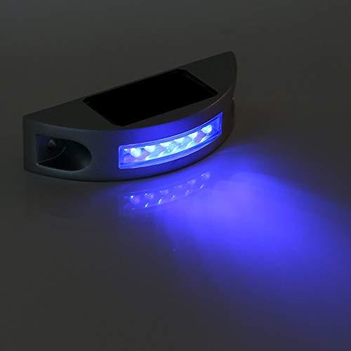 道路ライト 6LED LEDソーラーライト 点滅可 路面表示灯 道路表示灯 視線誘導? 芝生ランプ 歩道ライト?ソーラー充電 防水 省エネ 耐久性 おしゃれ 夜間 耐重量 道路 鋲 簡単設置 太陽光発電 駐車場 暗いところ IP68(ブルー)