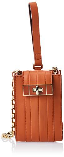 Tommy Hilfiger Damen Th Chic Leather Pouch Business Tasche Orange (Orange Rust)