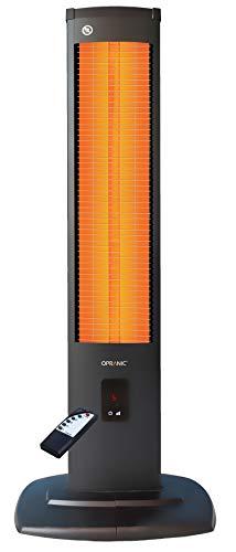 OPRANIC THOR Stand-Calentador infrarrojo, 2000 vatios, Control remoto 5 configuraciones, IP34 a prueba de salpicaduras, terraza radiador infrarrojo, calefactor de patio eléctrico con larga duración