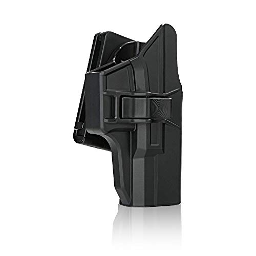 efluky Glock Fondina Pistola Polimero Holster per Glock 19/23/32(Gen1-5), Glock 19X, Glock 45, Belt Clip 60° Regolabile