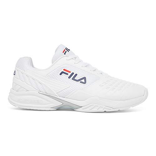 FILA Men's Axilus 2 Energized Tennis Shoe (White/White/FILA Navy, 7)