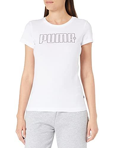 PUMA Rebel Graphic tee Camiseta, Mujer, White, S