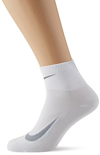 NIKE U NK ELT LTWT QT Calcetines, Hombre, Blanco (White/Wolf Grey/Reflect Silver), 12