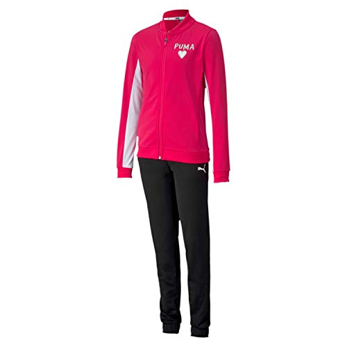 PUMA Mädchen Trainingsanzug Poly Suit G 581415 Bright Rose 140