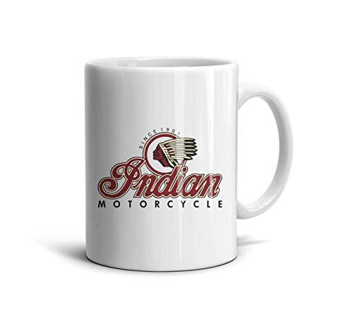 Yuantaicuifeng Niedliche Tasse Becher Indian-Motorcycles-Logo- Einzigartige Kaffeetasse, Kaffeetasse 11 Unzen