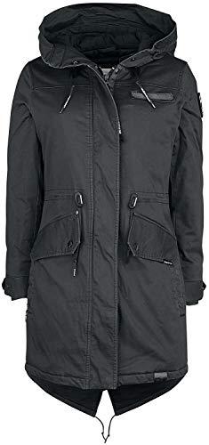 khujo Karmen Frauen Wintermantel schwarz M 97% Baumwolle, 3% Elasthan Basics, Casual Wear, Streetwear
