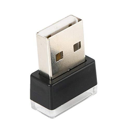Swify Portátil USB Led Luz De Coche Luz De Atmósfera USB Interior De Coche Enchufe Y USA Luz Decorativa Iluminación De Emergencia Productos De Coche Pc Amarillo