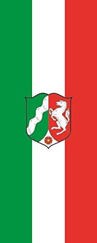 U24 Fahne Flagge Nordrhein-Westfalen NRW im Hochformat Premiumqualität 80 x 200 cm
