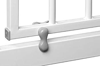 ib style® Barrière de sécurité Disponible jusqu'à 285 cm | Barrière Chien | sans perçage | Auto-Close| 90° arrêt | 165-175 cm + 2 adapteurs en Y