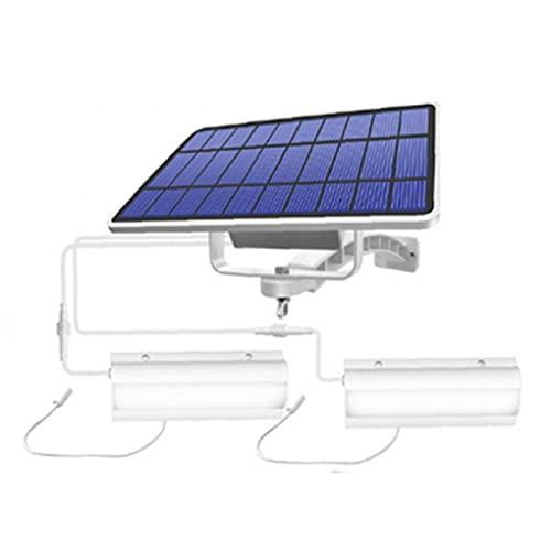 vvd El Panel Solar De La Lámpara Pendiente De La Luz Colgado 2 Impermeable Ip65 Led con El Cable De La Luz Blanca para Garaje Shed Bombilla Blanca