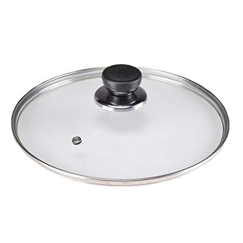 Tapa Sarten Templado tapa de vidrio Pan sartén vapor cubierta transparente del...