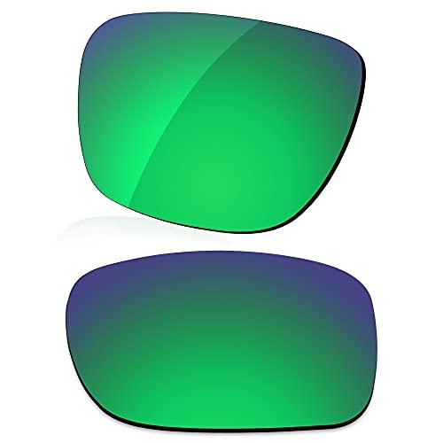 LenzReborn Lente polarizada de repuesto para gafas de sol Arnette Reserve AN4226 - Otras opciones, Verde césped – Polarizado Espejo, Talla única