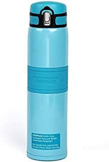 Super Heat Retention,Keep Ice for 32 Hours,Stainless Steel Vacuum Insulated Water Bottle for Outdoors Sports,Yoga,Camping,Flip Cap Non-slip Wide Spout BPA-Free,(16 oz Blue)