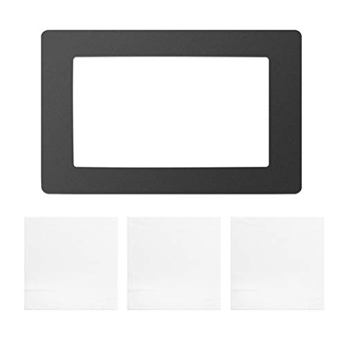 Fesjoy for Resin 3D Printer, Black LCD Gasket 6.5 x 4.1in Protection from Resin Spill with Non-dust Cloths Compatible with Wanhao D7 Photon Photon-S 5.5 Inch LCD Resin 3D Printer