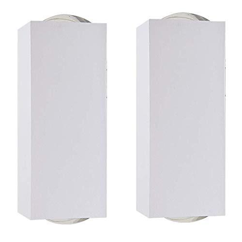 2 Arandela Led 2 Fachos Lente 2 * 3W Branca Aluminio Muro Acl65