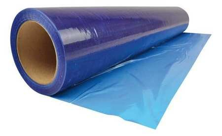 "Duct Outlet Adhesive Plastic Wrap Protection Film - Blue - HVAC - Home and Construction (24"" x 200ft)"