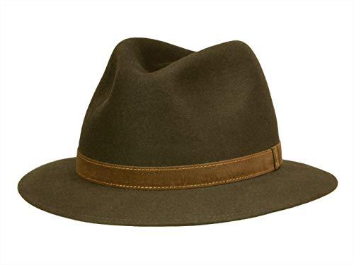 Chapeau de feutre Borsalino Rustico Traveller en feutre de poil de lapin- marron - Marron - M