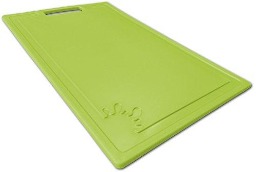 Tagliere in plastica con piedini antiscivolo Taglieri antibacterico Tagliere grandi ( Lime, Medio )