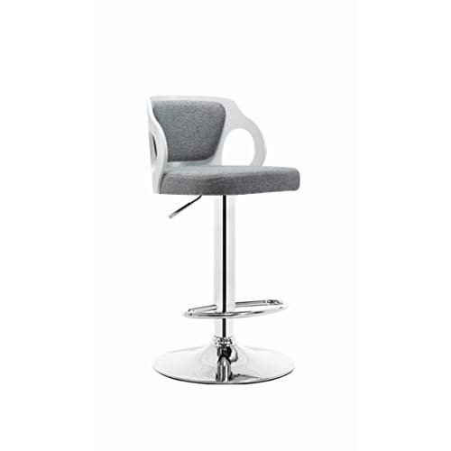 Barkruk, Rebound-zitting Met Massief Houten Rugleuningstoel En Metalen Voetensteun, In Hoogte Verstelbaar Voor Bistro-terras Cafékeuken P-4.2 (Color : Style-F)