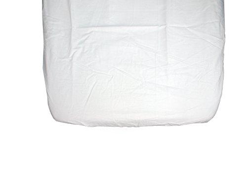 Ti TIN - Pack de 2 Sábanas Bajeras para Capazo Moisés o Coche 100% Algodón | Lote de 2 Sábanas Bajeras Ajustables con Elásticos, 2 Unidades Blancas. Medidas: 35x75 cm.