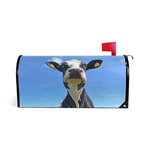 Hunihuni Magnetische Briefkasten-Abdeckung Tier-Kuh Briefkasten, Dekoration