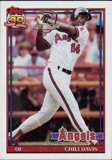 Topps 1991 Chili Davis Baseball Card #355