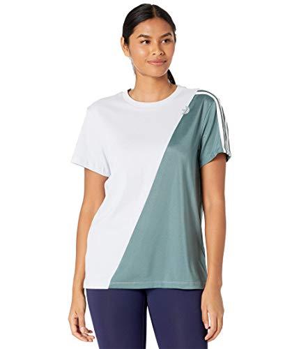 adidas Sliced Trefoil Loose Tee Halo Blue/Hazy Emerald XL