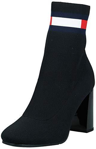 Tommy Hilfiger Sock Heeled Boot, Stivaletti Donna, Nero (Black Bds), 36 EU