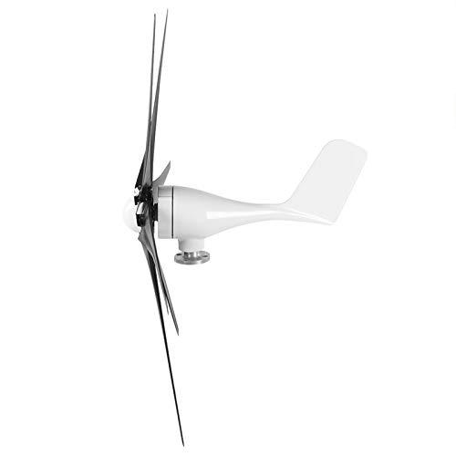 SALUTUYA Generador de Molino de Viento Estable de turbinas de Viento para Cargar maquinaria eólica de Casas(Black, 48V)