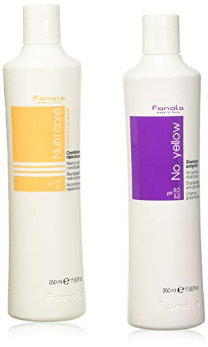 fanola No Yellow Shampoo 350ml + Nutri Care conditioner 350ml KIT