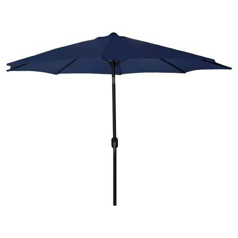 Ezone 9 FT Patio Umbrella, Outdoor Umbrellas with Adjustable Crank, Tilt Function Fade Resistant, Waterproof Patio Table Umbrella (Navy)
