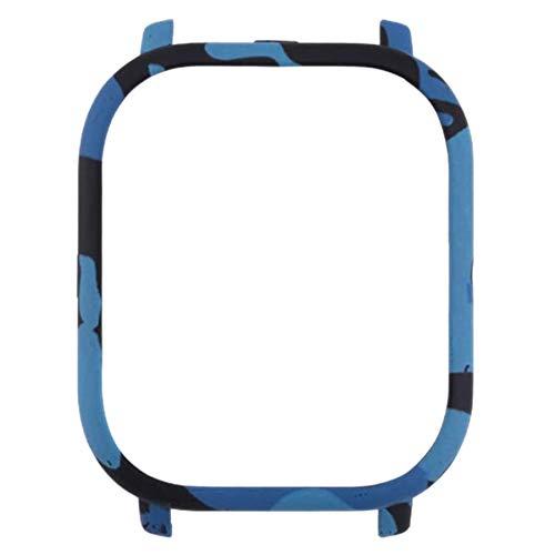 Huante adecuado para Huawei GTS funda de reloj, protector de TPU resistente a los arañazos, camuflaje azul.