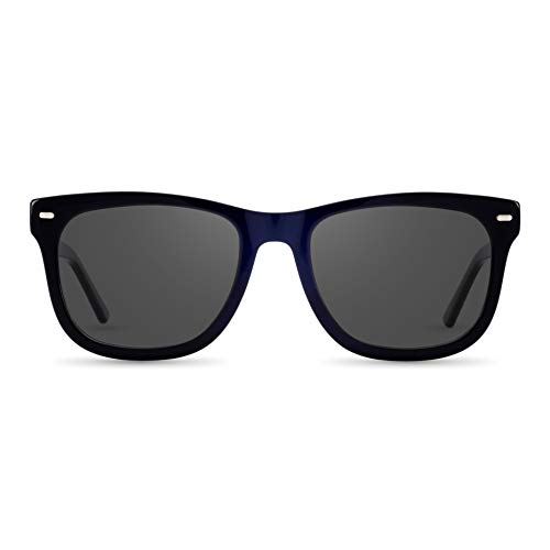 Gafas cuadradas con rango de visión de -4,00 hasta +4,00, con lentes intercambiables en 6 colores para miopía y visión de visión - Hombre y mujer (unisex) - Colección Square Modelo Boxi