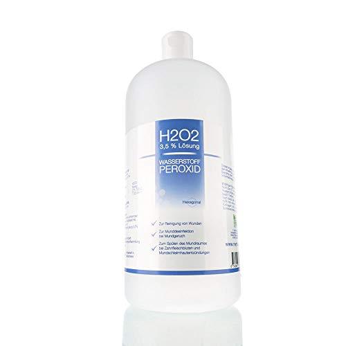 Nemkur H2O2 Wasserstoffperoxid 3,5% Lösung - 1000 ml auf Osmose Wasser mit praktischem Sprühaufsatz - optimal zum Desinfizieren und zur Mundhygiene - Pharmaqualität aus Deutschland