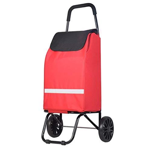 JPL Carritos de compras para personas mayores , Carrito de compras Carrito de compras Carrito de compras pequeño Carrito portátil Carrito plegable antiguo Carrito del automóvil Remolque del carrito d