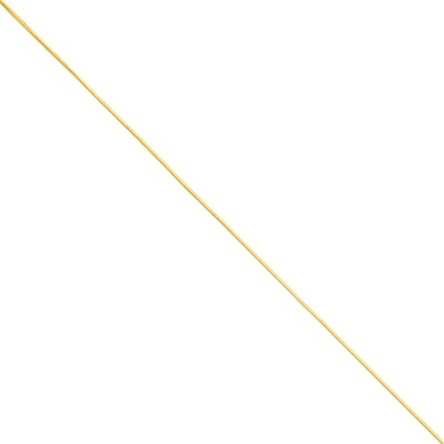 Diamond2Deal - Tobillera de cadena de serpiente octogonal de oro amarillo de 14 quilates de 1 mm para mujer