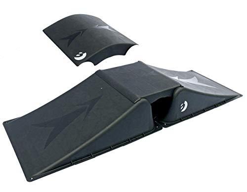 Best Sporting Doppelrampe für Skateboard, BMX-Rad, Skater und RC Cars (Rampe 2 + 2)